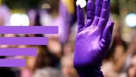 Una manifestación contra la violencia de género.
