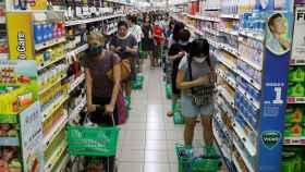 Un supermercado en tiempos de COVID-19.