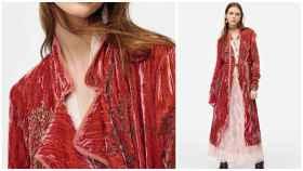 Montaje de JALEOS con el kimono de Zara que ha agotado existencias.