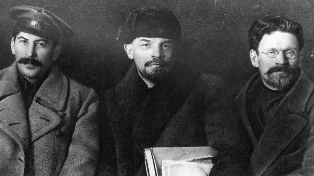 Stalin, Lenin y Kalinin.