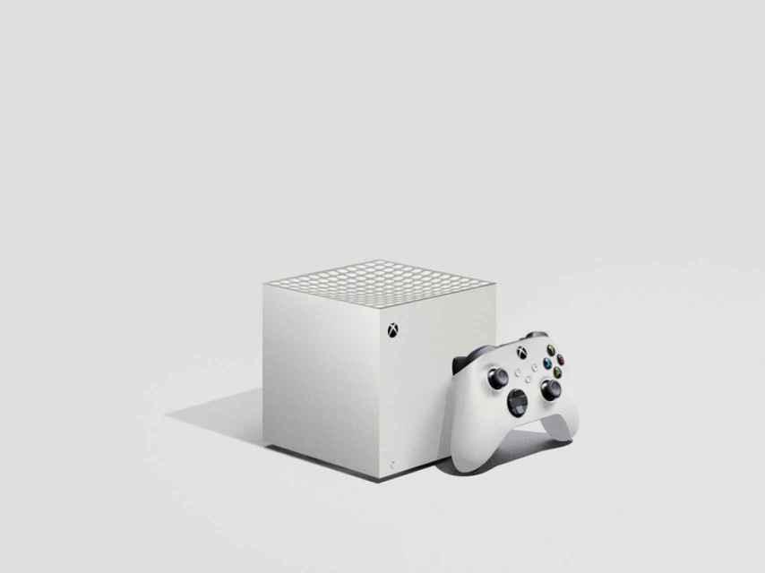 Xbox Series X pequeña en un render.