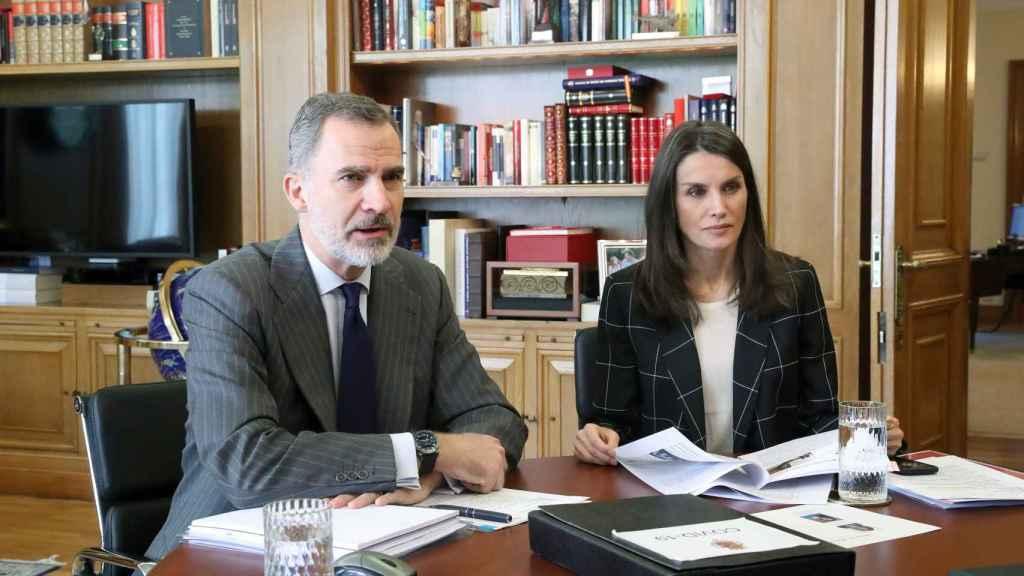Felipe y Letizia siguen teletrabajando desde Zarzuela.