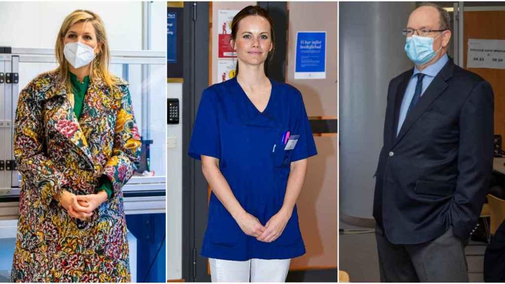Máxima de Holanda, Sofía de Suecia y Alberto de Mónaco en montaje de JALEOS.