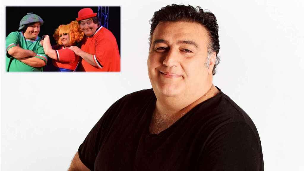 Gaby Jr. junto a una imagen de Los Gabytos en montaje de JALEOS.