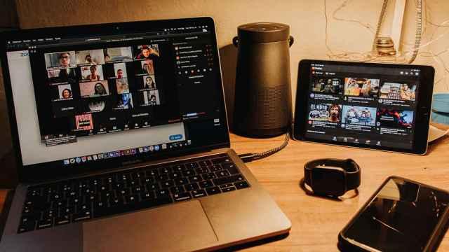 Una de las videollamadas con Zoom con múltiples usuarios.