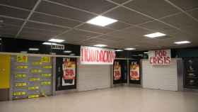 El intercambiador de Avenida América con las tiendas cerradas.