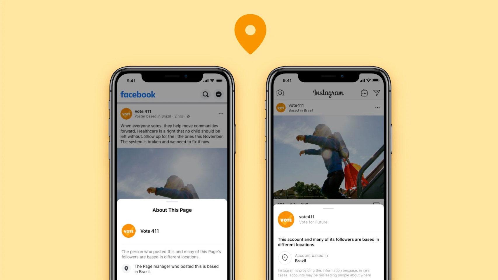 Facebook mostrará la localización de los administradores de las páginas