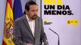 Pablo Iglesias este jueves en Moncloa