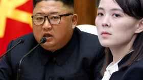 Kim Jong-un y su hermana Kim Yo-Jong. (Fotomontaje)