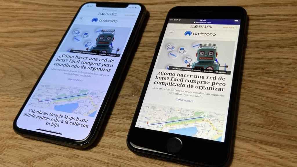 iPhone 11 Pro (izq.) y iPhone SE