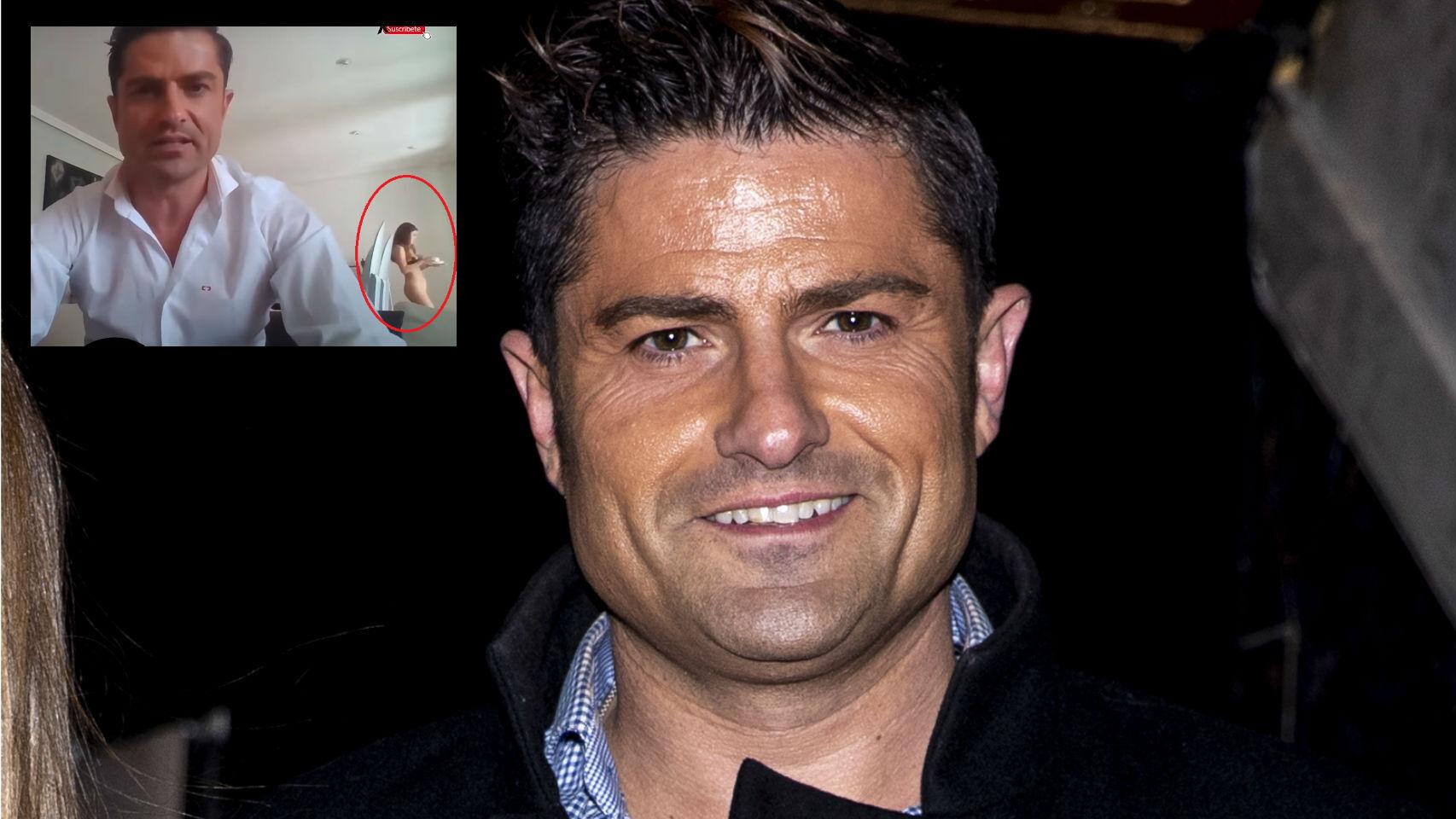 Alfonso Merlos en montaje de JALEOS junto al directo.