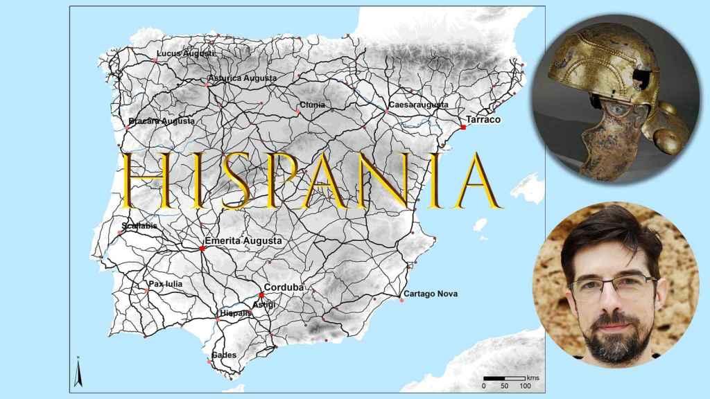 El mapa de las calzadas romanas en la Península Ibérica realizado por el arqueólogo Pau de Soto.