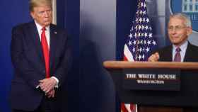 El presidente de EEUU, Donald Trump. durante su comparecencia diaria sobre el coronavirus.