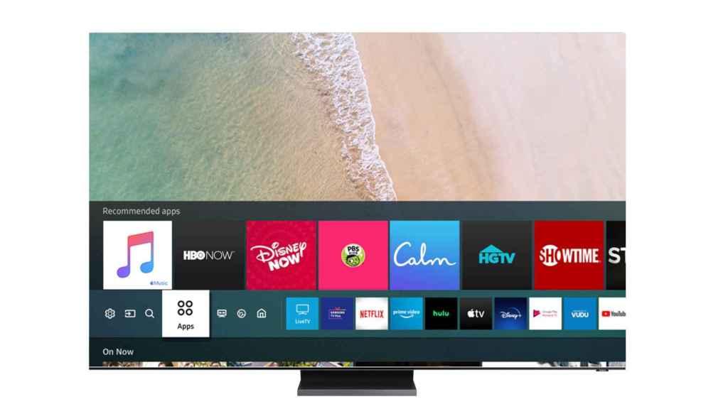 App de Apple Music en un televisor de Samsung