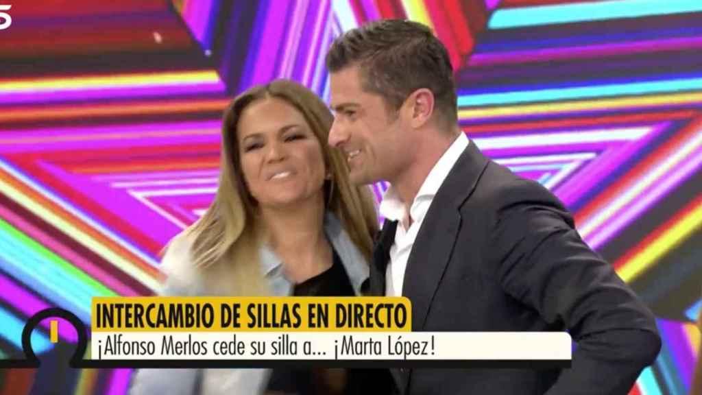 Marta López y Alfonso Merlos en 'Ya es mediodía'.