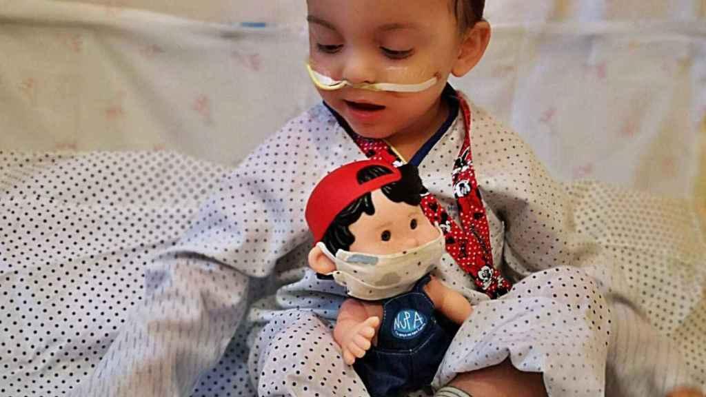 Victor, durante su ingreso en el Hospital Universitario La Paz.