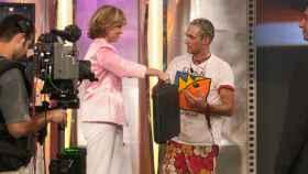 Ismael Beiro junto a Mercedes Milá (Telecinco)