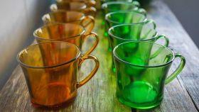 Las míticas tazas verdes y ámbar de Duralex.