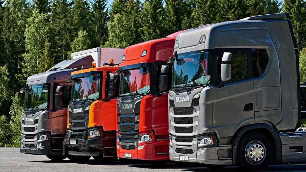 Camiones de Scania.
