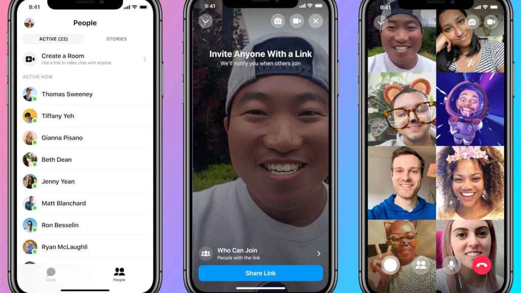 Messenger Rooms estará disponible dentro de las apps de Messenger y Facebook