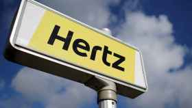Rótulo de Hertz en uno de sus centros de alquiler.
