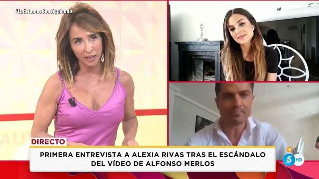 Alexia Rivas durante su intervención en 'Socialité'.