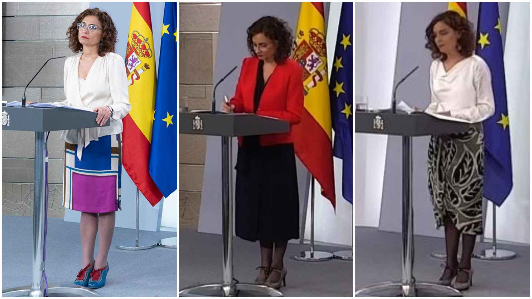 María Jesús Montero en un montaje de JALEOS.