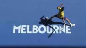 Djokovic en un partido del Open de Australia