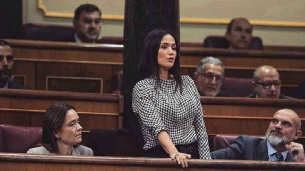 Mireia Borrás en el Congreso de los Diputados a comienzos de diciembre de 2019.