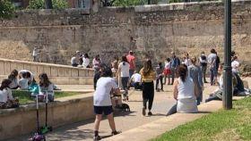 Niños y familias este domingo en Valencia.