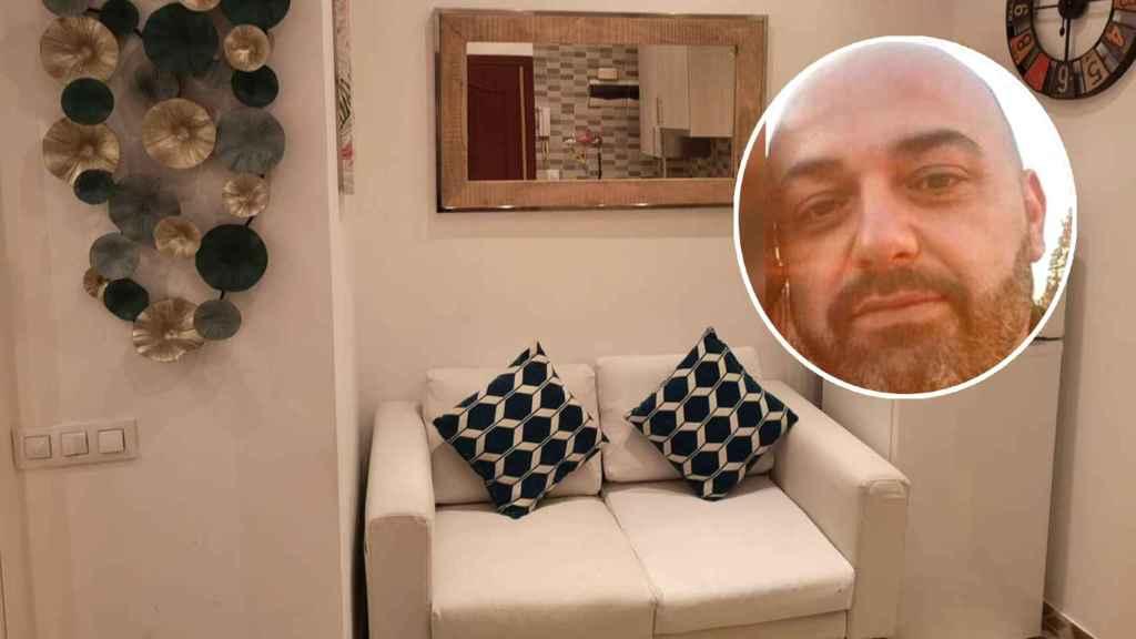 Jorge y uno de sus apartamentos turísticos.