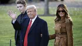 Donald, Melania y Barron Trump.