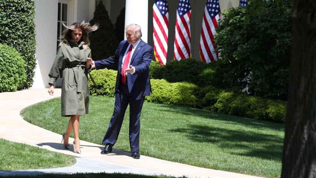 Melania y Donald Trump el pasado 22 de abril en la Casa Blanca.
