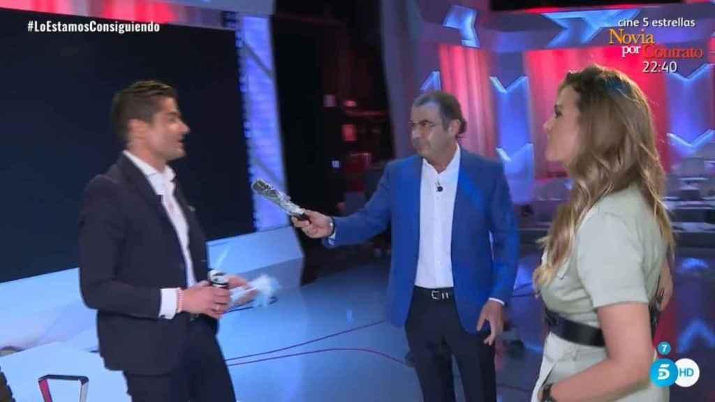 Marta López y Alfonso Merlos en su primer encuentro en directo.