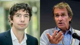 A la izquierda, Christian Drosten. A la derecha, Fernando Simón.