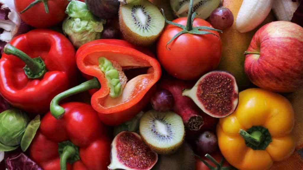 Una gran variedad de frutas y de hortalizas