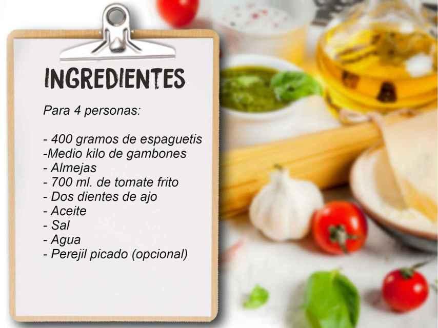 Los ingredientes que se necesitan para hacer el plato de Luis Larrodera.