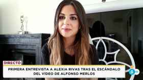 Alexia Rivas durante su entrevista en el programa donde trabaja, 'Socialité'.