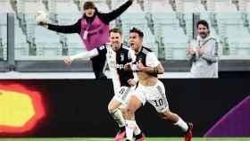 Paulo Dybala celebra un gol en la Serie A con la Juventus de Turín