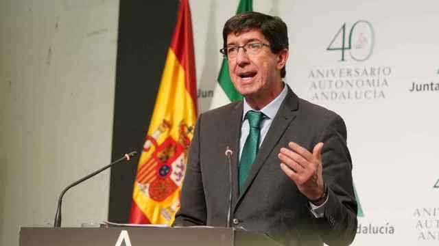 Juan Marín, consejero de Turismo, Regeneración, Justicia y Administración Local de Andalucía