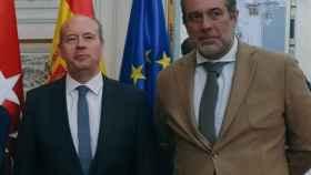 El ministro de Justicia, Juan Carlos Campo, y el responsable de Justicia del PP./