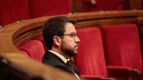 El vicepresidente de la Generalitat y el conseller de Economía, Pere Aragonès.