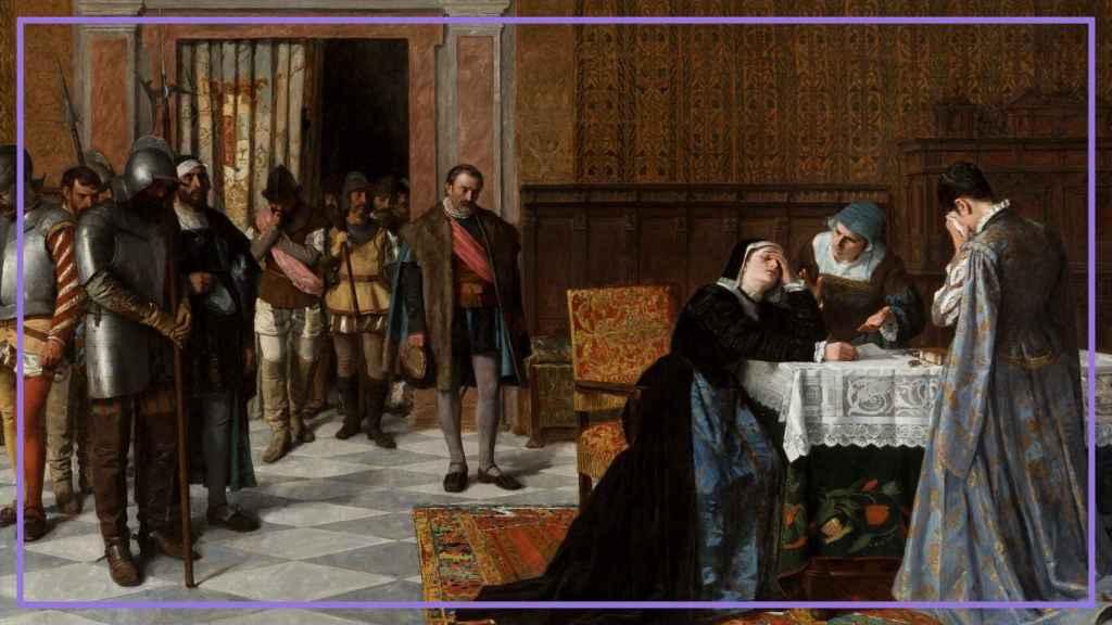 'Doña María Pacheco de Padilla después de Villalar', un lienzo de Vicente Borrás y Mompó.