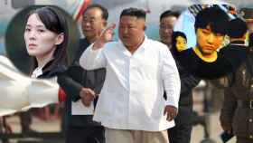 Kim Jong-un, en su última imagen pública, junto a dos de sus hermanos.
