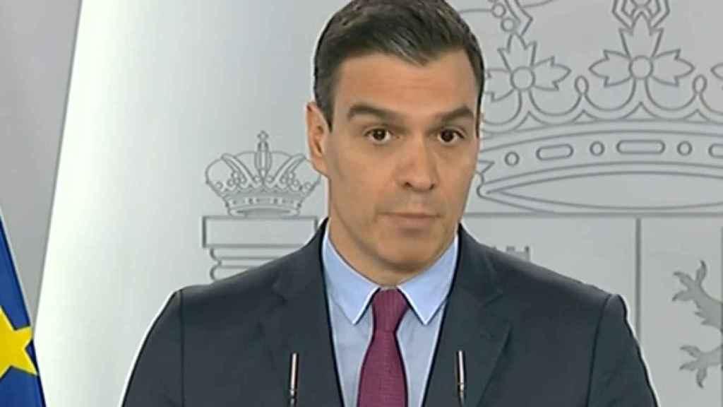 El presidente del Gobierno, Pedro Sánchez, en la rueda de prensa del martes.