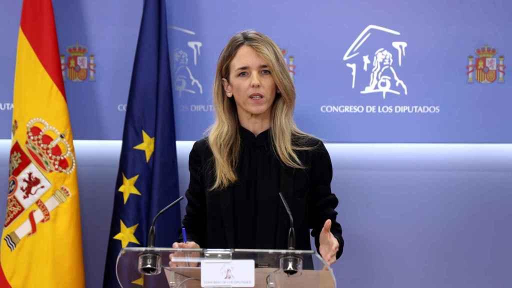 La portavoz del PP en el Congreso, Cayetana Álvarez de Toledo, este martes.