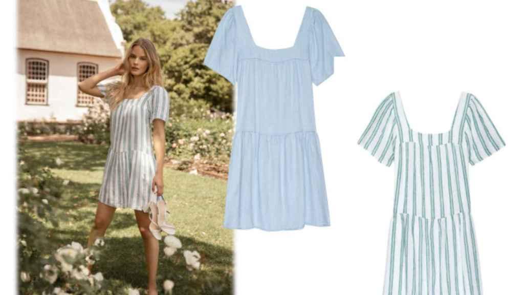 Hazte con un vestido de estampado primaveral y de diseño fluido.