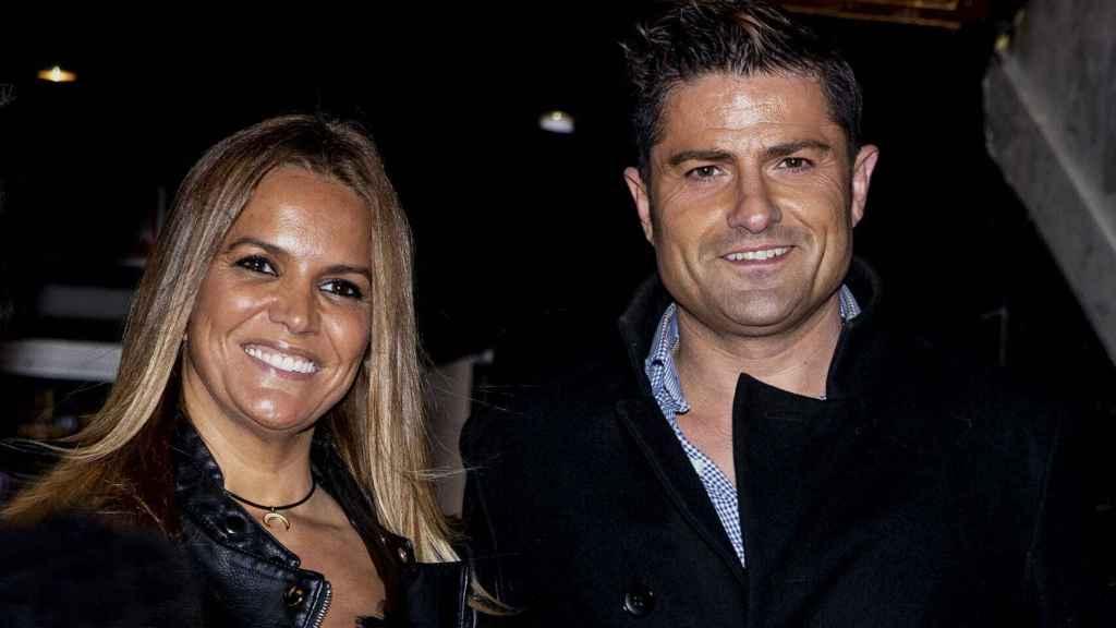 Marta López y Alfonso Merlos en su primera aparición pública como pareja.