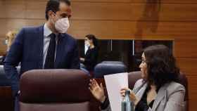 Díaz Ayuso e Ignacio Aguado, en la Asamblea de Madrid.