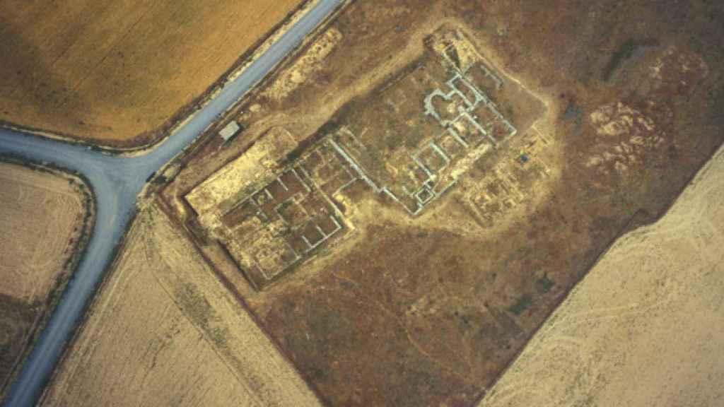 Imagen aérea del yacimiento de Lancia, en Villasabariego.